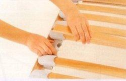 画像2: シングル:ウッドスプリング床板「ブルーコンフォート」脚付